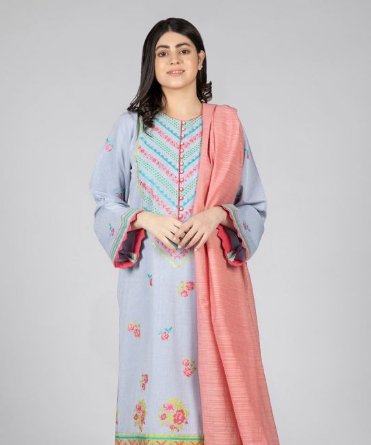 Zellbury Mischka Blue Eid Collection