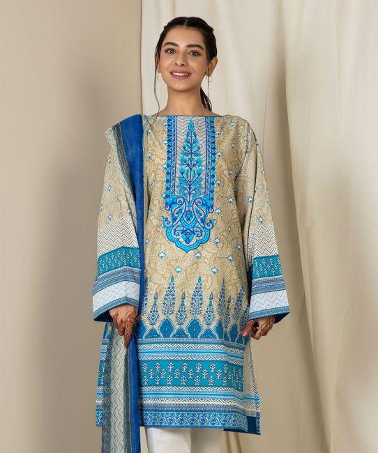 Zellbury Spice Blue Eid Collection
