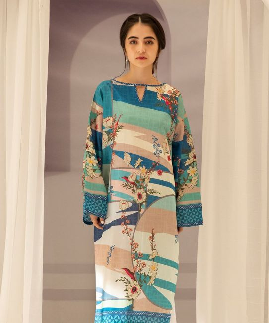 Zellbury Spring Green B Lawn Suit Lawn Collection 2021