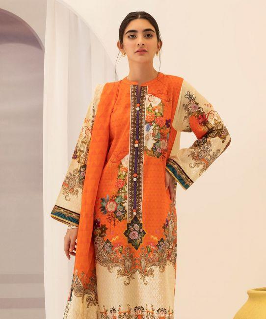 Zellbury Burning Orange Eid Collection