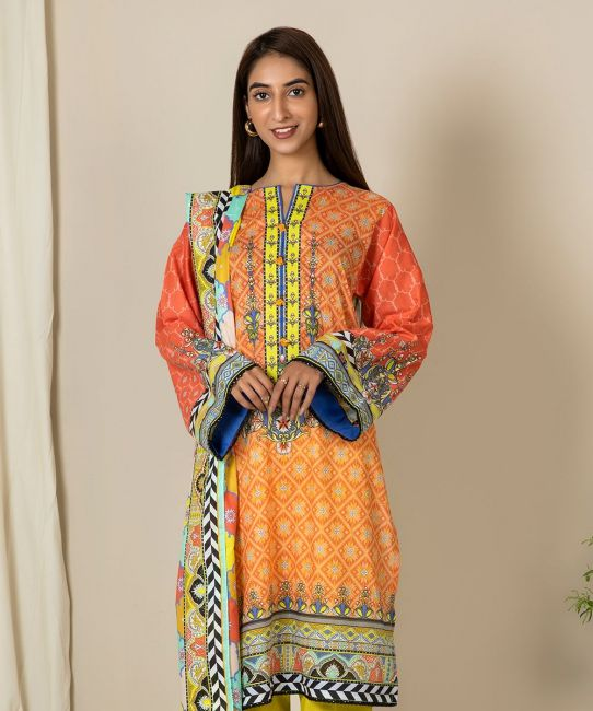 Zellbury Jaffa Orange A Eid Collection