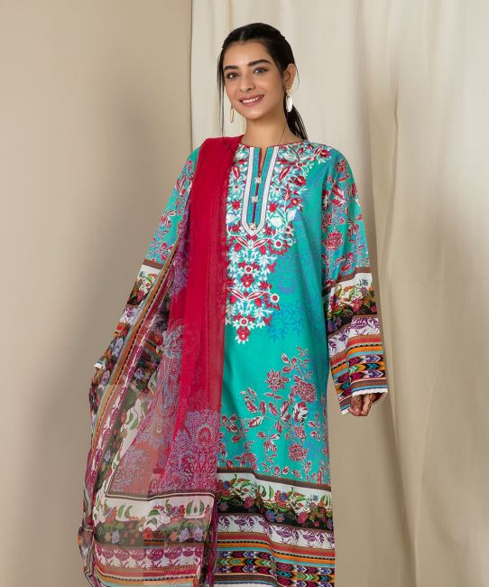 Zellbury Aqua Blue A Eid Collection