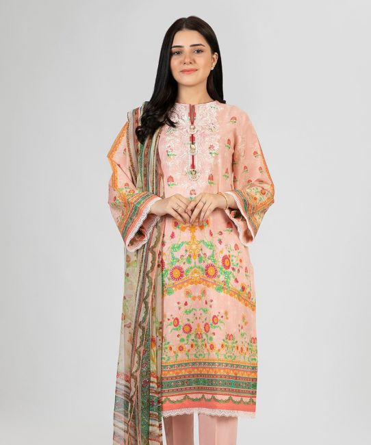 Zellbury Pink Lawn Suit Lawn Collection 2021